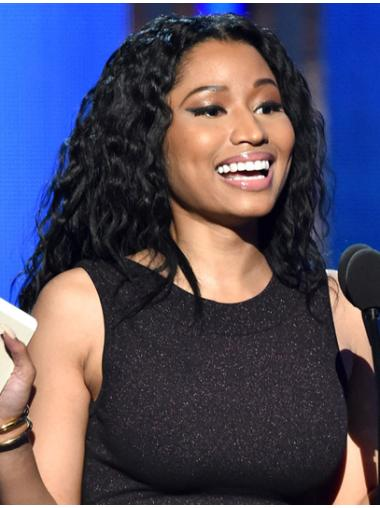 Sassy Black Curly Long Nicki Minaj Wigs