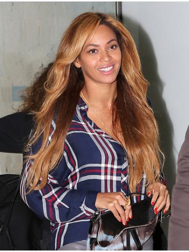 Suitable Blonde Wavy Long Beyonce Wigs