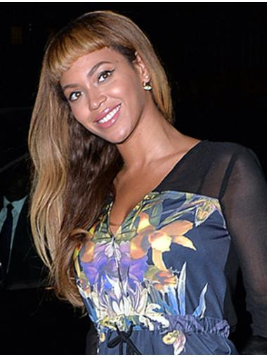 Gentle Blonde Straight Long Beyonce Wigs