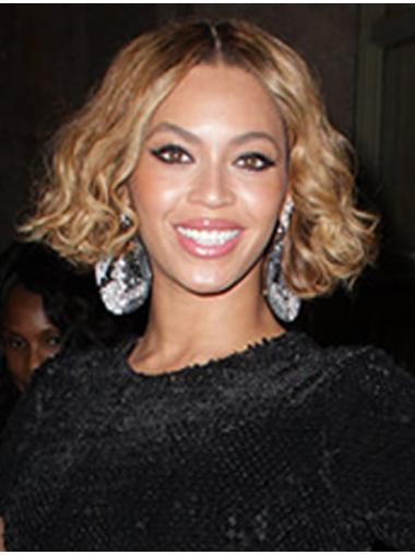 Comfortable Blonde Curly Chin Length Beyonce Wigs
