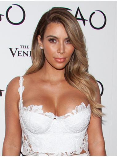 Preferential Blonde Wavy Long Kim Kardashian Wigs