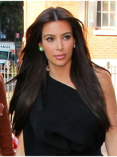 Wholesome Black Straight Long Kim Kardashian Wigs