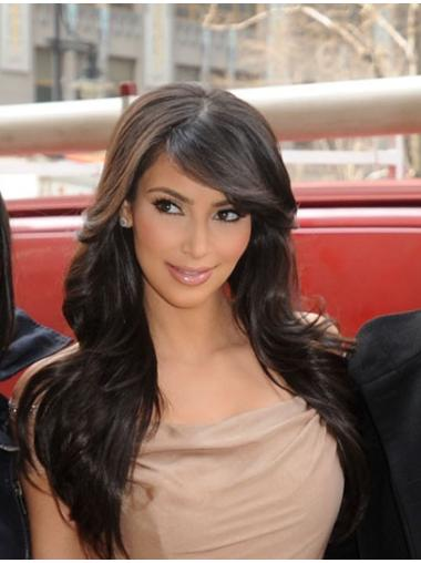 Cool Black Wavy Long Kim Kardashian Wigs