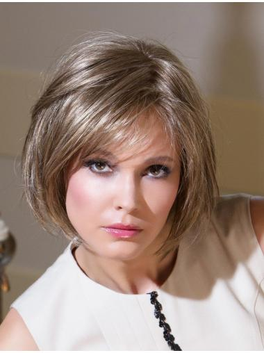 Radiant Blonde Straight Chin Length Bob Wigs
