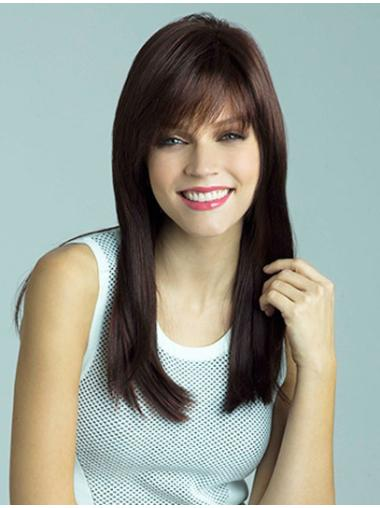 Fashionable Auburn Straight Synthetic Long Wigs