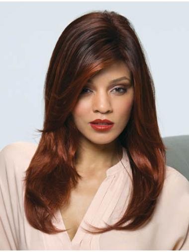 Unique Auburn Straight Synthetic Long Wigs