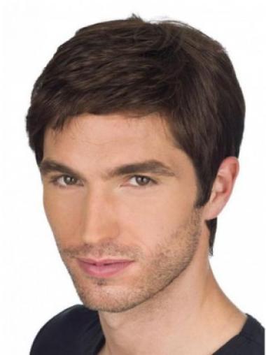 Gorgeous Auburn Straight Short Men Wigs