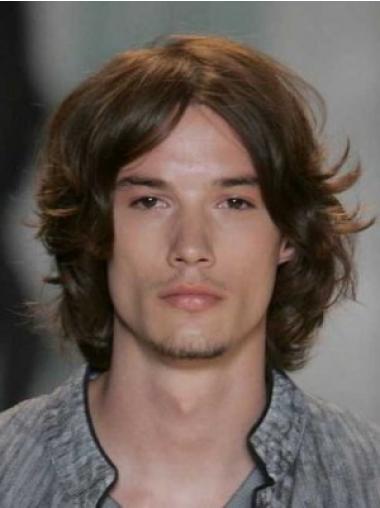Auburn Lace Front Chin Length Men Wigs