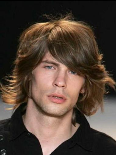 Natural Auburn Wavy Chin Length Men Wigs