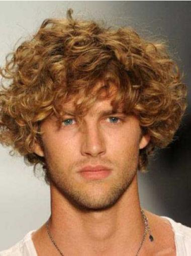 Easy Blonde Curly Short Men Wigs