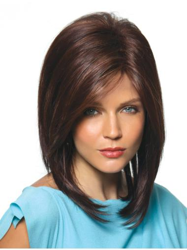 Brown Incredible Straight Synthetic Medium Wigs