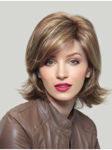 Blonde Wavy Synthetic Best Medium Wigs