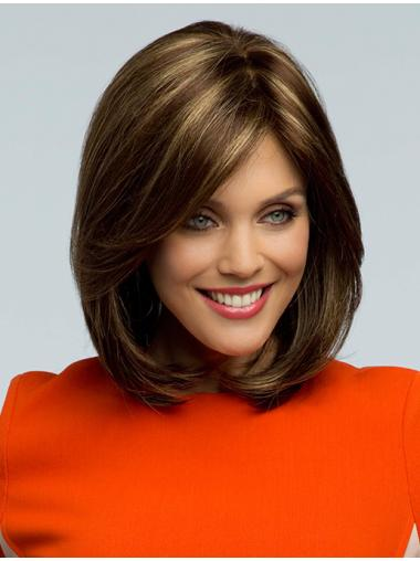 Monofilament Refined Wavy Synthetic Medium Wigs