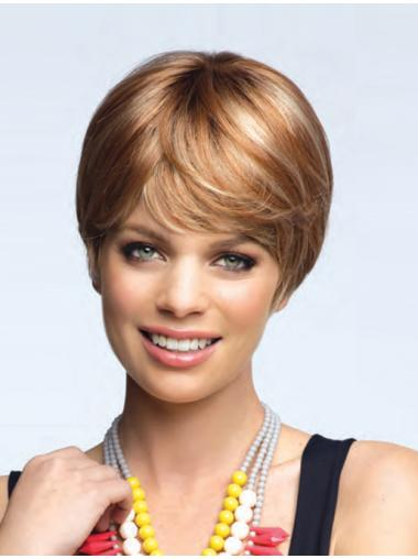 Blonde Straight Synthetic Best Short Wigs