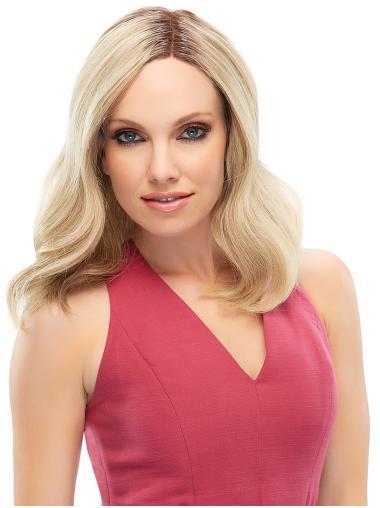 Amazing Wavy Blonde Shoulder Length Lace Wigs