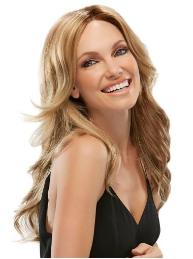 Exquisite Blonde Wavy Synthetic Long Wigs