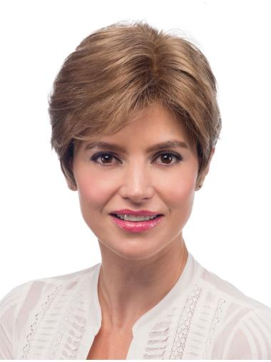 Blonde Monofilament Synthetic Pleasing Short Wigs