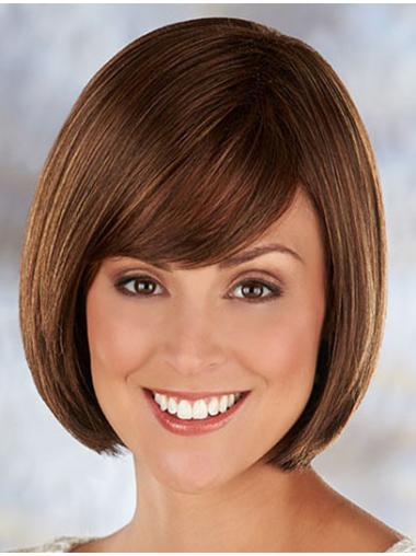 Brown Pleasing Straight Synthetic Medium Wigs