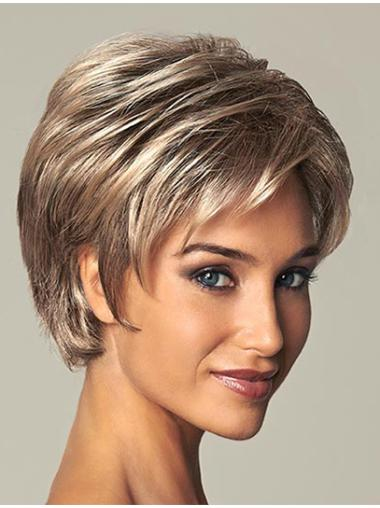 High Quality Brown Straight Short Wigs