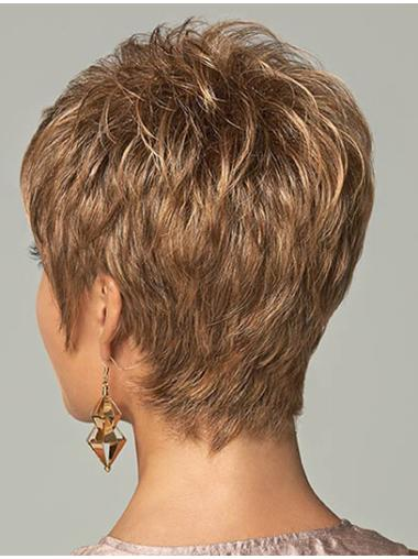 Hairstyles Brown Straight Cropped Men Wigs, Mens Punk Wigs