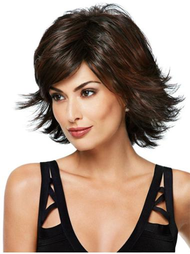 Synthetic Chin Length Layered Top Wigs