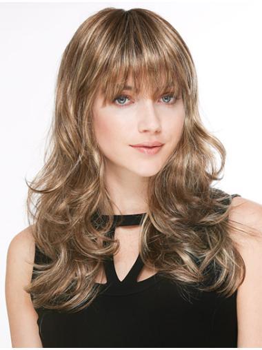 Blonde Wavy Synthetic Long Wigs