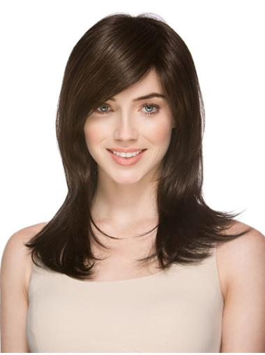 Monofilament Preferential Straight Synthetic Medium Wigs