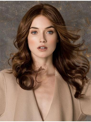 Ideal Remy Human Hair Monofilament Wavy Long Wigs