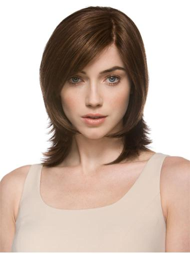 Synthetic Shoulder Length LayeLace Front Graceful Wigs