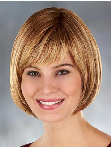 High Quality Blonde Monofilament Chin Length Lace Wigs