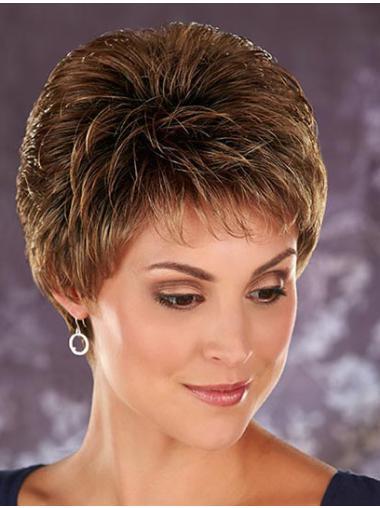 Boycuts Wavy Synthetic Fashion Short Wigs