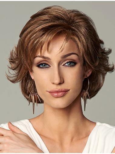 Perfect Auburn Wavy Chin Length Glueless Lace Front Wigs