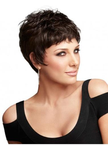 Traditiona Auburn Boycuts Wavy Short Wigs