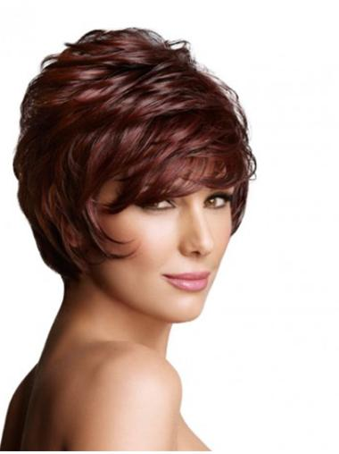 Radiant Layered Wavy Short Wigs