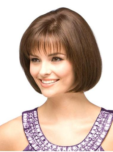 great monofilament straight chin length wigs  head wigs