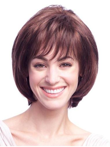 Fashionable Monofilament Straight Chin Length Wigs