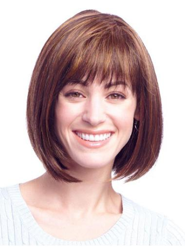 Exquisite Monofilament Straight Chin Length Wigs