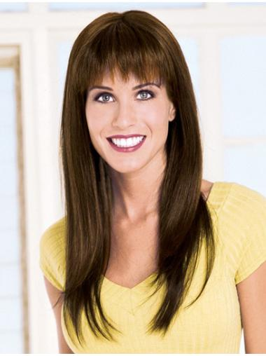 Monofilament Straight Remy Human Hair Style Long Wigs