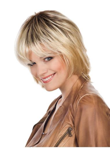 Tempting Blonde Lace Front Chin Length Glueless Lace Wigs