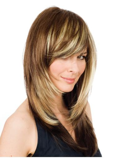 Remy Human Hair Wavy Blonde Great Long Wigs