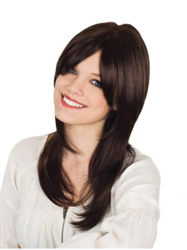 Monofilament Wavy Remy Human Hair Shining Long Wigs
