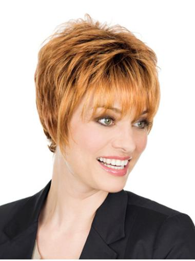 Radiant Blonde Monofilament Short Classic Wigs