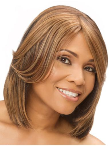 Designed Monofilament Straight Chin Length Full Lace Wigs