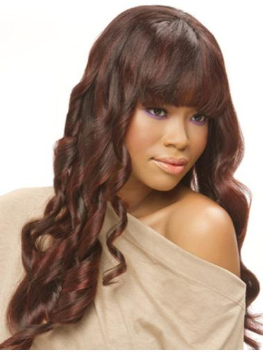 Durable Monofilament Curly Long Lace Front Wigs