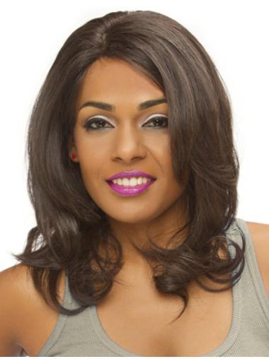 Designed Auburn Wavy Shoulder Length Lace Front Wigs
