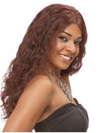 Wholesome Auburn Curly Long Full Lace Wigs