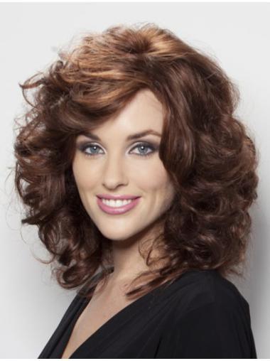 Best Auburn Wavy Shoulder Length Human Hair Wigs