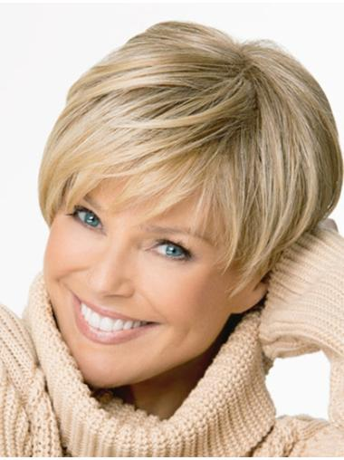 Shining  Boycuts Blonde Short Wigs