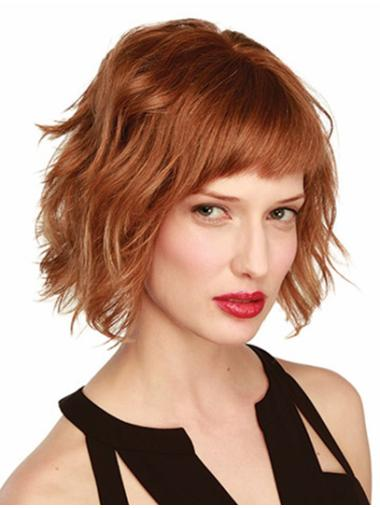 Incredible Monofilament Wavy Chin Length Wigs