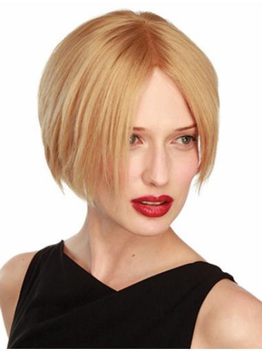 Convenient Lace Front Bobs Blonde Short Wigs